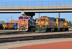 The Chief of Amarillo (BravoDelta1999) Tags: burlingtonnorthernsantafe bnsf railway unionpacific up railroad atchisontopekaandsantafe atsf santafe chicagorockislandandpacific crip rockisland amarillo texas emd gp382 gp392 2381 2847 h1 bluebonnet paint scheme ge c449w 651 warbonnet upy gp151 640 gmtx 2692 manifest train