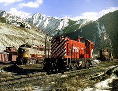 Crowsnest BC Friday March 23rd 1973 1500PST (Hoopy2342) Tags: s4 cline train rail railroad railway canadianpacific canadianpacificrailway alc0mlw crowsnestpass bc britishcolumbia