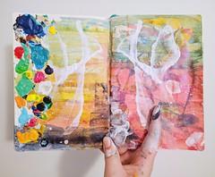 Sketchbook Series - 10 (Sofeha) Tags: art artist abstractpainting abstract abstractart acrylicpainting painting sketchbook paper paint colourful colorful messy hand