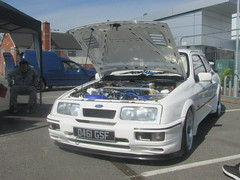 Ford Sierra RS Cosworth D461GSF (Andrew 2.8i) Tags: cardiff classic car show cars classics classicsincardiff hot hatch hatchback cossie turbo cosworth rs sierra ford