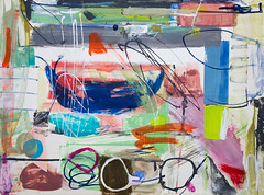 Abstract composition (Natasha Davydova) Tags: art artwork acrylic painting picture paper object line abstract abstraction collage