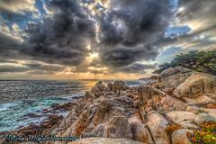 God Talks to Me (Michael F. Nyiri) Tags: pebblebeach 17miledrive ghostcypress trees rocks rockyshore sunset clouds sky