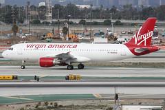 N640VA (dbind747438) Tags: virgin america airbus a320200 n640va los angeles airport