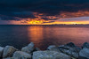 King's Day! (karindebruin) Tags: haringvliet hellevoetsluis nederland quackgors thenetherlands voorneputten zonsondergang zuidholland clouds sunset water wolken