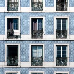 Portugal - Lisbon - Alfama tiled facade 03_sq_DSC0832 (Darrell Godliman) Tags: portugallisbonalfamatiledfacade03sqdsc0832 tiled tiles facade windows dwwg building lisbon lisboa portugal europe squares bsquare sq squareformat instagram