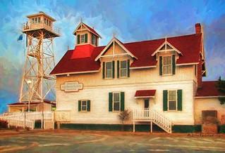 The Ocean City Life-Saving Station Museum at Sunrise