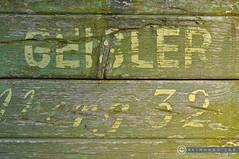 Niederösterreich Weinviertel Harmannsdorf_DSC1050 (reinhard_srb) Tags: niederösterreich weinviertel harmannsdorf landwirtschaft bauer name geisler brett schrift lack grün traktor anhänger fahrzeug 32