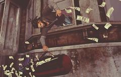 grab the loot!! (Markthedark SL) Tags: sl avatar gray toksic fashion natic money
