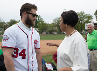 May 5, 2018 Bryce Harper Baseball Field Ribbon Cutting