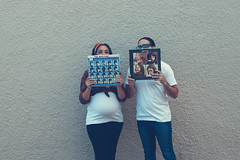 for the record (Photo-Genie SA) Tags: baby bump beatles maternity family record music