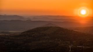 Blick ins Elbsandsteingebirge mit Pollencorona