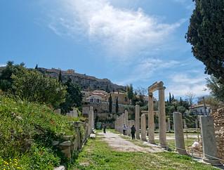 Roman Agora - View to Akropolis