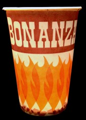 Vintage Bonanza Cup (1975) (Brett Streutker) Tags: restaurant cafe diner eatery food hamburger cheeseburger eat fast macdonalds burger vintage colonel sanders kentucky fried chicken big mac boy french fries pizza ice cream server tip money cash out dining cafeteria court table coffee tea serving steak shake malt pork fresh served desert pie cake spoon fork plate cup drive through car stand hot dog mustard ketchup mayo bun bread counter soda jerk owner dine carry deliver monochrome people photo