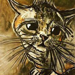 Michou (franck.sastre) Tags: cat gato chat art miau painting picture black