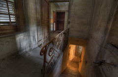 """""""HEAVENLY LIGHT """" (Wiffsmiff23) Tags: italy urbex decay derelict desolate abandoned church light golden gold shadows stairs shutters creepy religion"""