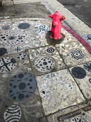Sidewalk in Downtown Los Angeles, California (ChrisGoldNY) Tags: unanimous challengefactory challengewinners sidewalk streetart graffiti dtla downtownla downtown losangeles california socal westcoast america usa urban city streets streetphotography red firehydrant art chrisgoldphoto chrisgoldny chrisgoldberg licensing forsale albumcover bookcover iphone curb kerb laist la