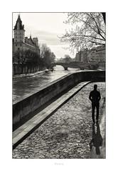 Paris n°189 (Nico Geerlings) Tags: ngimages nicogeerlings nicogeerlingsphotography leicammonochrom 50mm summilux paris seine france quai grandsaugustins iledelacite saintmichel