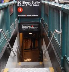 Uptown / Downtown (kenjet) Tags: city ny nyc newyork newyorkcity manhattan downtown subway train steps entrance 1 one uptown bronx thebronx