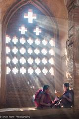 Myanmar, Old Temple  with M (Khun Hans Photography) Tags: myanmar monks novice temple boys backlit nikon d810