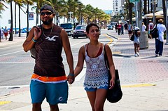 Hunk with woman (LarryJay99 ) Tags: 2018 beach streets people ftlauderdale ocean atlanticocean couples urbannomad streetshot streetpeople streetportrait black blackpeople bulge bulges bulging sexyman hotdudes dudes masculinity manly virile studly stud masculine men male man guy guys dude beard goatee mustache