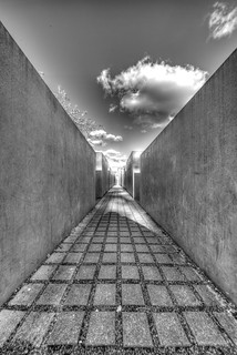 Holocaust Memorial - HDR - B&W Artistic