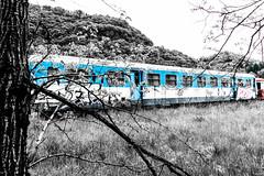 Caché (Gaw') Tags: train rail gare station triste sadness railway wagon abandon
