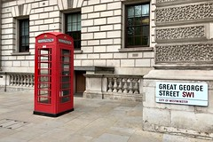 Great George Street (♔ Georgie R) Tags: greatgeorgestreet london westminster telephonebox