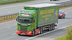 SV18 HDH (panmanstan) Tags: scania ng s580 wagon truck lorry commercial freight transport haulage vehicle a1m fairburn yorkshire