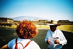 Teotihuacan (cranjam) Tags: lomography lomo lca film expired slide xpro kodak elitechrome100 mexico messico teotihuacan unesco worldheritagesite teotihuacán pyramid piramide mesoamerican mum mamma angela guide ruins rovine