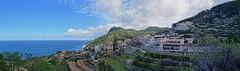Banyalbufar - Panorama - Mallorca, ES [explored] (André-DD) Tags: mallorca majorca espania spain spanien banyalbufar küste coast panorama sonne sun wolken clouds terrasse terrassen terrace meer ozean ocean water wasser mittelmeer mediterraneansea