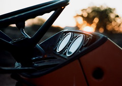 Sunset Tractor (Semjaja) Tags: sunset tractor slr nikonf90x nikon nikkor 28105mm kodak kodakportra160 portra160 film filmlives filmsnotdead filmphotography shootfilm ishootfilm ilovefilm 35mm 35mmcamera 35mmfilm graafwater southafrica