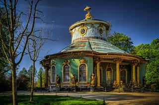 Chinese Garden Pavilion in Sanssouci Palace Park