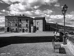 piazza San Pietro (zen56zen) Tags: biancoenero blackandwhite piazza castignano marche olympus zen nuvole clouds