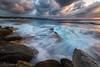 Colour & Texture (Crouchy69) Tags: sunrise dawn landscape seascape ocean sea water waves flow motion coast clouds sky rocks south maroubra beach sydney australia