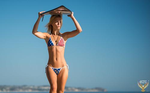 282ccf97a90c3 Beautiful Red, White, & Blue Malibu Swimsuit Bikini Model! American Flag  Bikini! Stars & Stripes July 4th ...