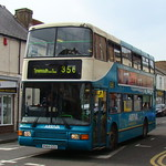 ARRIVA NORTH EAST 7414 P414CCU IS SEEN IN NORTH SHIELDS ON 3 MAY 2008