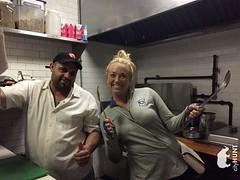 NYC Scavenger Hunt Photo (realcityhunt) Tags: restaurant cook chef ingredients salt spoons hat stove man lady woman thumbsup pose challenge smile nike sweatshirt fun nyc newyorkcity scavengerhunt teamwork teambuilding corporateevent cityhunt pocketbook