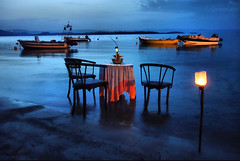 Greece (denismartin) Tags: greece europe mediterraneansea thessalia halkidiki vourvourou restaurant nightphotography night boat blue island denismartin macedoniagreece makedonia timeless macedonian macédoine mazedonien μακεδονια македонија