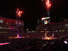 Taylor Swift at Levi's Stadium, Santa Clara, California (fcphoto) Tags: taylorswift reputation stadium tour santaclara sanjose california music concert show light firework singer song sing fcphoto event photojournalism iphone celebrity woman
