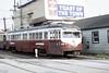 US PA Philadelphia SEPTA-PSTC Red Arrow 23 St Louis Streamliner 9-1967 69th St (David Pirmann) Tags: pa pennsylvania philadelphia septa redarrow pstc philadelphiasuburbantransco interurban train trolley tram transit railroad