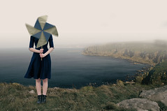 The Coming Storm (Nwywre) Tags: outdoor fineart art conceptual concept wind sea ocean surreal fantasy girl storm pinwheel windrad
