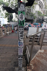 sticker graffiti near Sathorn pier 1 (_gem_) Tags: trip vacation holiday bangkok thailand city street urban graffiti streetart