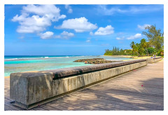 Boardwalk Bench (Timothy Valentine) Tags: 2018 0418 caribbean boardwalk beach vacation bench datesyearss monday bridgetown christchurch barbados bb