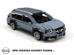 Opel Insignia B - Country Tourer AWD - 2018 (lego911) Tags: opel insignia b 2018 2010s mkii ii country tourer wagon estate awd psa gm general motors e2xx europe germany german auto car moc model miniland lego lego911 ldd render cad povray foitsop