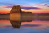 Lone Rock (Ania Tuzel Photography) Tags: wahweaparizona lonerock earlymorning reflections lakepowell canyon north america bay