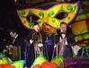 Harry Rides Again! (BKHagar *Kim*) Tags: bkhagar mardigras neworleans nola la parade celebration people crowd beads outdoor street napoleon uptown night orpheus kreweoforpheus harry harryconnickjr float monarch royalty