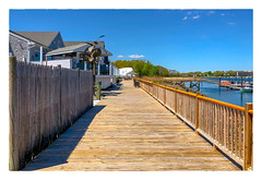 Dockside (Timothy Valentine) Tags: 2018 large 0518 dock boats sky boardwalk friday datesyearss fence quincy massachusetts unitedstates us