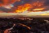 Stormy sky over Mana Island (bob_katt) Tags: sunset sky sea stormy rock rocks reflections cloud coast canon eos500d plimmerton mana island northisland newzealand aotearoa natural wonders weather wave water karehana bay