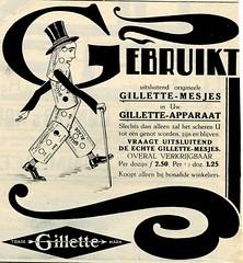 de stad Amsterdam 1923    adv Gilette c (janwillemsen) Tags: advertising amsterdam 1923 magazineillustration