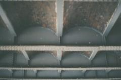 Samey Ceiling (j.farrimond) Tags: film canon bw river industrial pubilc